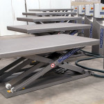 Low profile lift tables with control panel