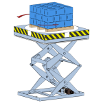 Turntable. Double and triple-scissor lift tables can be fitted with a turntable. The turntable's system of bearings makes it easy to rotate the load manually.