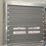 Foldsystem high-speed door in galvanised steel.