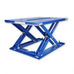 MSE-20-11,5-10. Painted steel low-profile lift table. With central hole to avoid fixed obstacles.