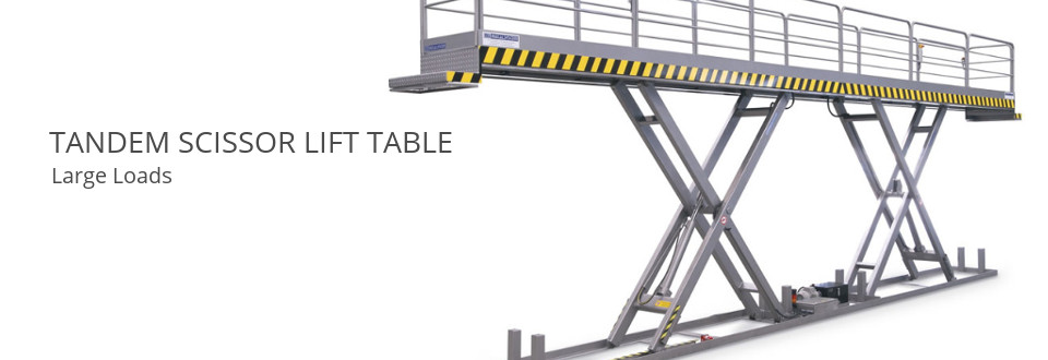 Tandem Scissor Lift Table. Large Loads.