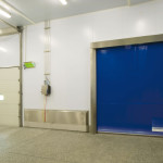 Stainless steel Quicksystem® doors to separate different rooms.