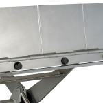 Stainless steel anti-trap mechanism in all models.