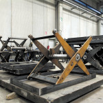 Lift table in steel during production process