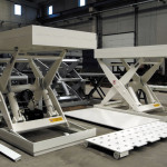Sliding top lift table assembling